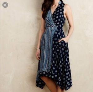 Anthropologie| Maeve Eclipse Faux Wrap Dress